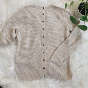 MADEWELL Button back sweater in cream